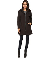 MICHAEL Michael Kors - Zip Front Softshell with Hood and Quilted Sleeves M522320T