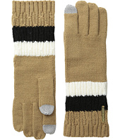 MICHAEL Michael Kors - Color Block Rib/Cable Gloves with Touch Technology