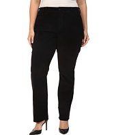 NYDJ Plus Size - Plus Size Marilyn Straight Jeans in Corduroy in Black