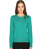 Kate Spade New York - Embellished Brooch Sweater