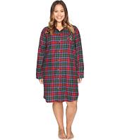 LAUREN Ralph Lauren - Plus Size Brushed Twill Sleepshirt