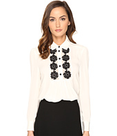 Kate Spade New York - Daisy Lace Silk Shirt