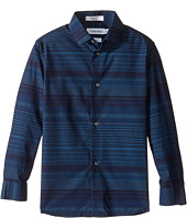 Calvin Klein Kids - Long Sleeve Infinity Horizontal Stripe Shirt (Little Kids)