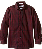 Calvin Klein Kids - Long Sleeve Conversion Plaid Shirt (Little Kids)