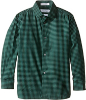 Calvin Klein Kids - Long Sleeve End on End Gingham Shirt (Little Kids)