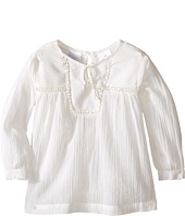 Kardashian Kids - Shirt with Front Split Tie and Seersucker Panel and Mesh Trim (Infant)