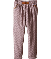 Kardashian Kids - Herringbone Pleated Pants with Faux Suede Belt (Toddler/Little Kids)