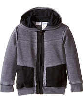 Kardashian Kids - Acid Washed Hoodie with Nylon Contrast Panels & Yardage Hood Lining (Toddler/Little Kids)