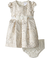 Us Angels - Brocade Short Sleeve Princess Bodice Empire Dress (Infant)