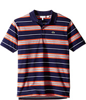 Lacoste Kids - Short Sleeve Multi Stripe Polo (Infant/Toddler/Little Kids/Big Kids)