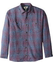 VISSLA Kids - Sands Long Sleeve Novelty Plaid Woven (Big Kids)