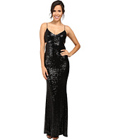 Badgley Mischka - Cut Out Sequin Gown