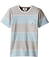 VISSLA Kids - Back Wash Short Sleeve Stripe Pocket Crew Knit (Big Kids)
