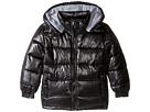 High Shine Black Puffer Jacket (Infant/Toddler/Little Kids/Big Kids)