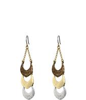 Lucky Brand - Tri-Tone Linear Dangle Earrings