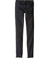 Hudson Kids - Bling Skinny Five-Pocket Studded Skinny with Fray Hem in Ash (Big Kids)