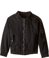 Hudson Kids - Woven Lined Bomber Jacket with Rib Trim (Toddler/Little Kids)