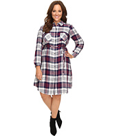 Christin Michaels - Plus Size Lakeland Plaid Dress