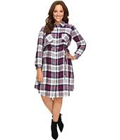 Christin Michaels - Plus Size Lakeland Plaid Dress