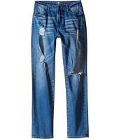7 For All Mankind Kids - Slimmy Slim Straight Stretch Denim Jeans in Eastern Light (Big Kids)