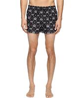 Dolce & Gabbana - Crown Print Mid Cut Swim Shorts
