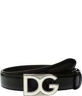 Dolce & Gabbana - Logo Buckle Smooth Leather Belt