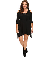 Culture Phit - Plus Size Jeanie Cold Shoulder Dress