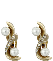 Oscar de la Renta - Pave Wave Pearl Crawler C Earrings
