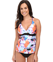 Next by Athena - Palm Pop Superwoman Racerback Wrap Tankini Top (D-Cup)