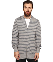 VISSLA - Fine Point Yarn-Dye Stripe Zip Fleece Hoodie