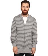 VISSLA - Fine Point Yarn-Dye Stripe Zip Fleece Hoodie