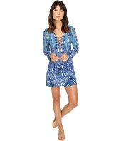 La Blanca - Sabi Sands Lace-Up Front Tunic Cover-Up
