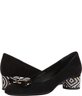 Salvatore Ferragamo - Suede With Beading Low-Heel Pump