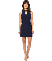 Taylor - Crepe Jewel Neck A-Line Dress