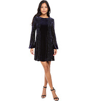 Taylor - Burnout Evelvet Trapez Dress