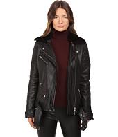 LAMARQUE - Alura Bike Jacket w/ Removable Shearling Collar