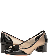 Salvatore Ferragamo - Patent Leather And Netted Low-Heel Pump