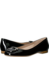 Salvatore Ferragamo - Patent Leather Ballerina Flat With Large Gancio