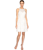 Marchesa Notte - Textured and Beaded Cocktail Dress