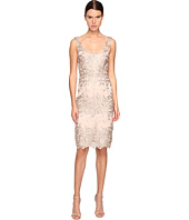 Marchesa Notte - Palm Embroidered Sheath Cocktail Dress