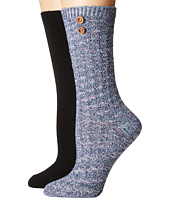 Steve Madden - 2-Pack Button Crew Sock