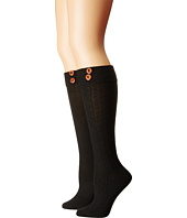 Steve Madden - 2-Pack Button Cable Knee High