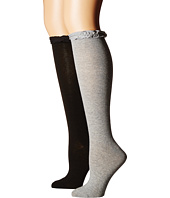 Jefferies Socks - Ruffle Knee High Socks 2-Pair Pack (Toddler/Little Kid/Big Kid/Adult)