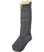Jefferies Socks - Lace & Buttons Knee High Socks (Toddler/Big Kid/Adult)
