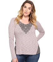 Roper - Plus Size 0570 Heather Jersey Henley