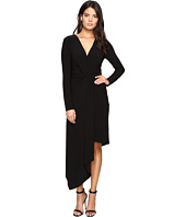 Laundry by Shelli Segal - Asymmetrical Draped Wrap Dress-Curve Control Lining