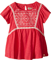 Lucky Brand Kids - Peplum Embroidered Top w/ Flowy Short Sleeves (Toddler)