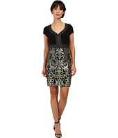 Adrianna Papell - Matte Jersey Bodice with Lace Metallic Skirt