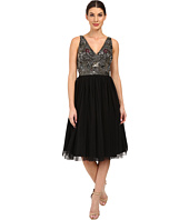 Adrianna Papell - Sleeveless Beaded Bodice Tulle Party Dress
