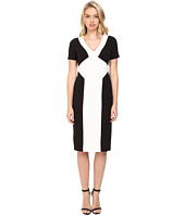 Maggy London - Crepe Scuba Colorblock Sheath Dress